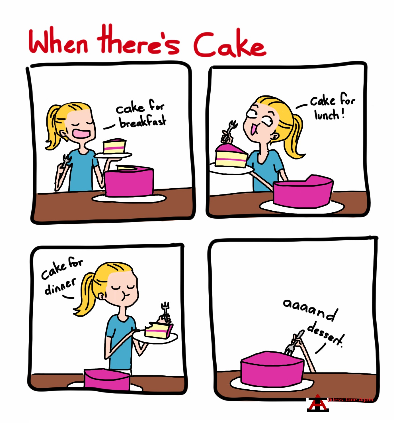 When there is cake eat it all