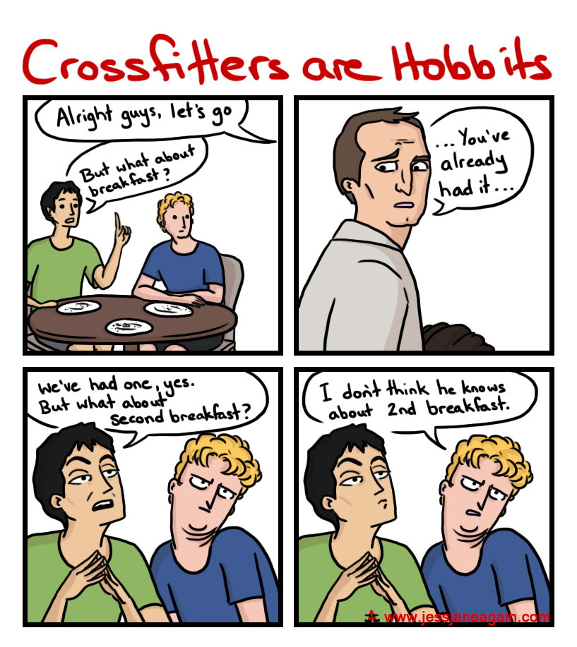 crossfit athletes are hobbits