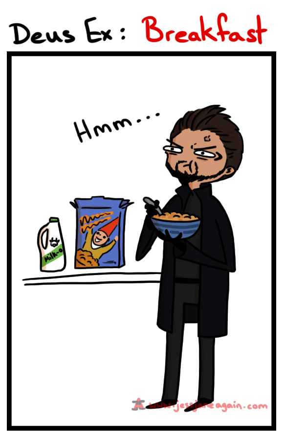 Deus Ex Cereal for Breakfast