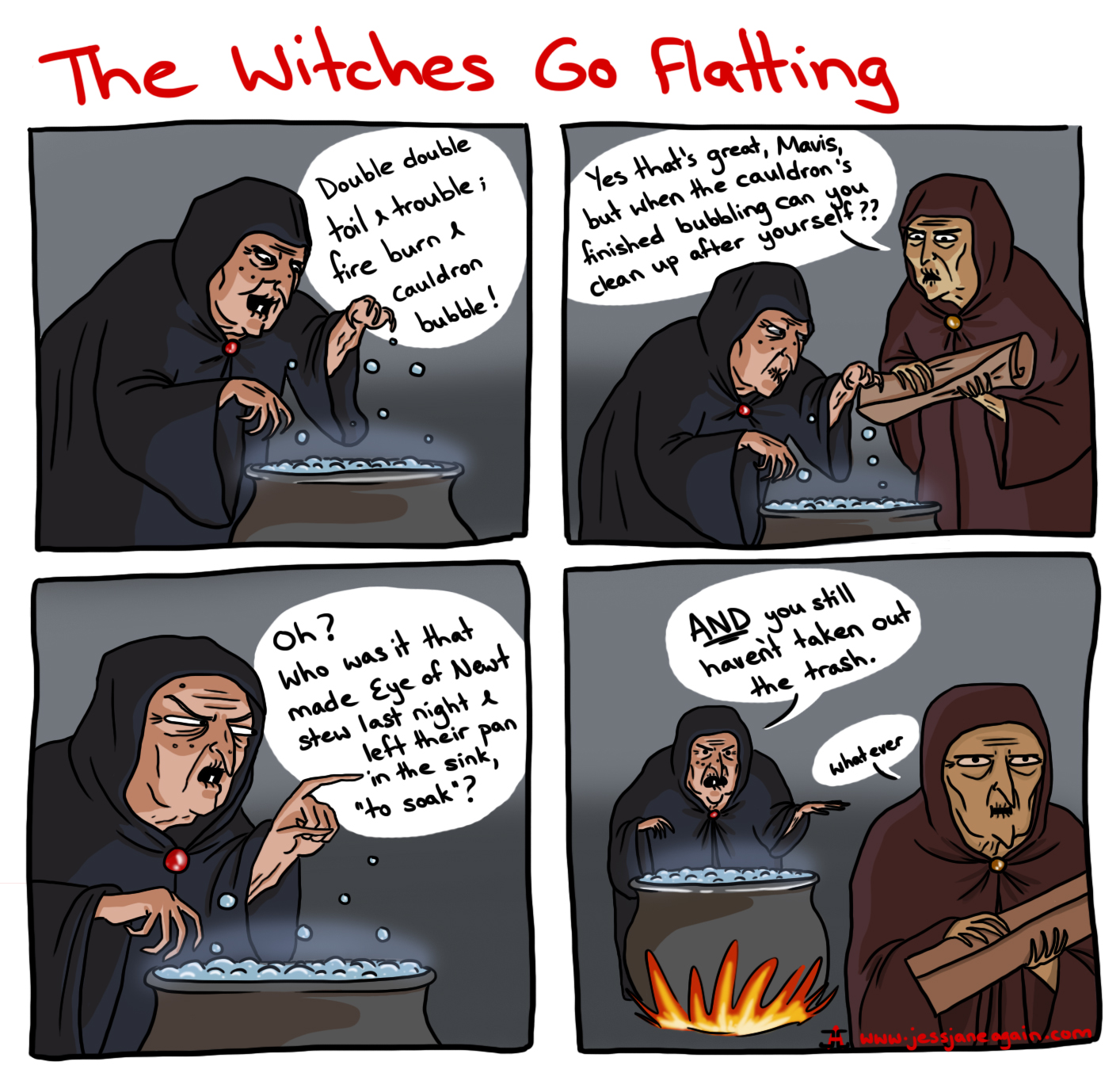 shakespeare's witches as flatmates