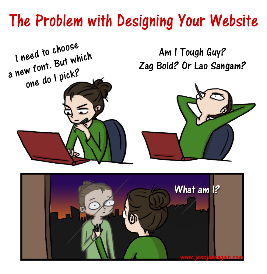 tough decisions when designing a website